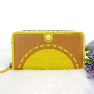 LODIS Rodeo Woven Perla Leather Wallet